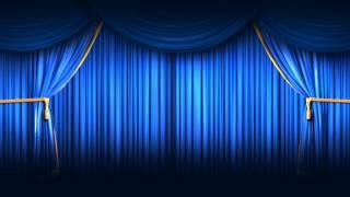 getlinkyoutube.com-Background Full HD Blue Closing Curtain