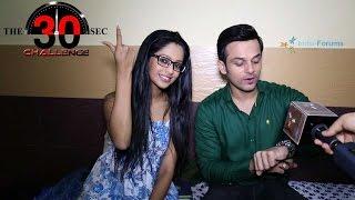 getlinkyoutube.com-Mugdha Chaphekar & Ravish Desai Take The 30 Sec Challenge