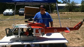 "getlinkyoutube.com-Huge Scale RC Helicopter - Bell 205 ""Huey"""
