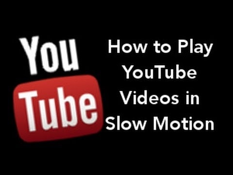 How to Play Crochet Youtube Videos in Slow Motion