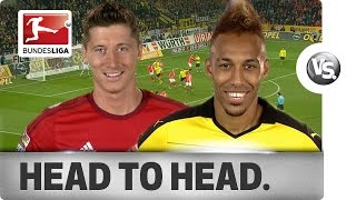 getlinkyoutube.com-Lewandowski vs. Aubameyang - Goal-Getters Go Head-to-Head