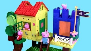 getlinkyoutube.com-Peppa Pig Treehouse Lego Blocks Playset - La Casa del árbol bloques construcción - Tree House
