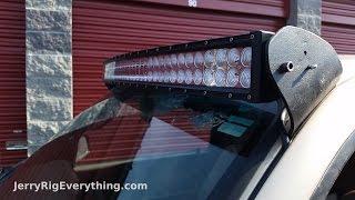 getlinkyoutube.com-Making Custom Brackets for a 50 inch LED Light Bar Truck Mount