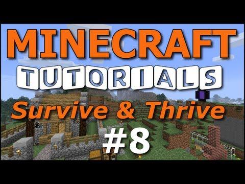 Minecraft Tutorials - E08 Wheat Farm (Survive and Thrive II)