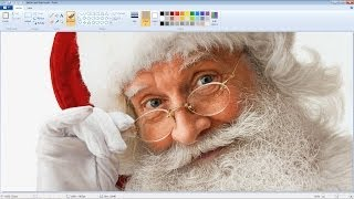 getlinkyoutube.com-Unbelievably Realistic Microsoft Paint Art : Santa Claus Speed Painting Time Lapse
