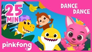 Baby Shark Dance and more | Dance Dance Pinkfong | +Compilation | Pinkfong Songs for Children width=