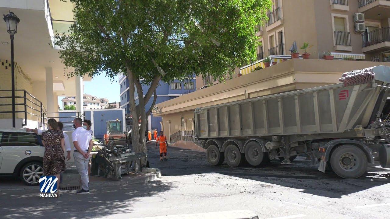 Nuevos trabajos en la calle Apolo en Sabinillas