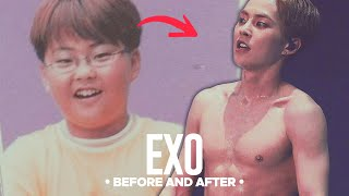 getlinkyoutube.com-EXO - Predebut Vs Now : Before and After