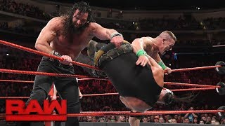 John Cena vs. Braun Strowman vs. Elias - Winner Enters Elimination Chamber Last: Raw, Feb. 5, 2018