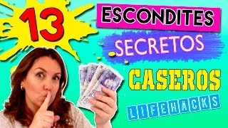 getlinkyoutube.com-13 ESCONDITES secretos caseros * LIFE HACKS para esconder dinero, llaves, joyas......