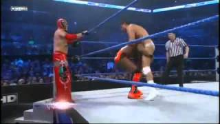 getlinkyoutube.com-WWE Smackdown 21/12/10 - Rey Mysterio & Kofi Kingston vs Alberto del Rio & Jack Swagger (HQ)