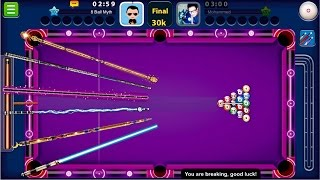 getlinkyoutube.com-8 Ball Pool - CUE SWAP EVERY SHOT | Paris, Shanghai + Dubai, Rome No Guideline Gameplay