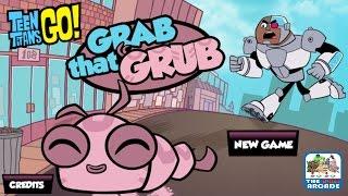 getlinkyoutube.com-Teen Titans Go!: Grab That Grub - Take Silkie for a Walk in the Park (Cartoon Network Games)