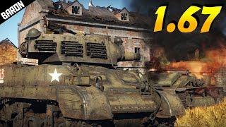 M8 Scott, Baby Derp!  War Thunder 1.67 Tanks Gameplay