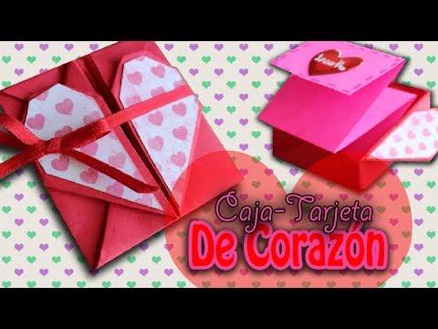 Carta de corazón plegable para San Valentín