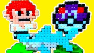 getlinkyoutube.com-Qixels Pixel Art Toy Craft Minecraft Pokemon Mario Sonic Custom 8 Bit Toys