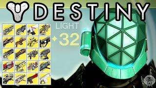 getlinkyoutube.com-Destiny: My Level 32 Titan! Exotic & Legendary Loot Showcase - Exotics, Armor Weapons & More