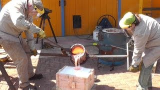 getlinkyoutube.com-CNC Pattern Making and Sodium Silicate Sand Casting Bronze