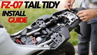 getlinkyoutube.com-FZ-07 Fender eliminator Easy Install Guide - Tail Tidy detailed Installation
