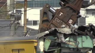 getlinkyoutube.com-HD【観覧注意!】幡生工場でクハ103-171が解体される!! その1