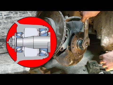 Замена и регулировка подшипника ступицы Mercedes W202 (W203)