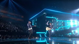 getlinkyoutube.com-Ed Sheeran – Castle On The Hill & Shape Of You feat. Stormzy [Live from the Brit Awards 2017]