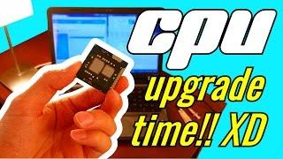 getlinkyoutube.com-How to Upgrade a Laptop CPU / Processor! XD