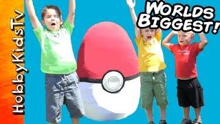 getlinkyoutube.com-Worlds Biggest Pokemon Themed Surprise Egg by HobbyKidsTV