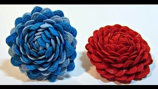 getlinkyoutube.com-Tutorial: Rosas Chic. Chic roses.