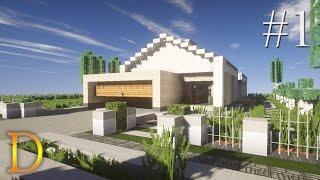 MINECRAFT PORADNIK - Jak zbudować: Nowoczesny dom parterowy [#1]