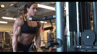 IFBB Pro Female Bodybuilder Sarah Hayes