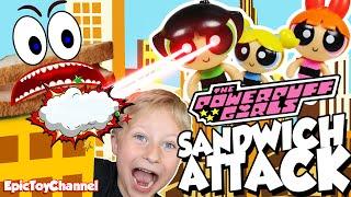 getlinkyoutube.com-POWERPUFF GIRLS Cartoon Network Parody Sandwich Attack + Bubbles IN REAL LIFE by Epic Toy Channel