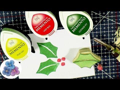 Como Hacer Sellos de Goma DIY *Stamp Carving* Manualidades de Navidad 2014 Pintura Facil