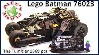 Lego Batman Tumbler 76023 Review Build