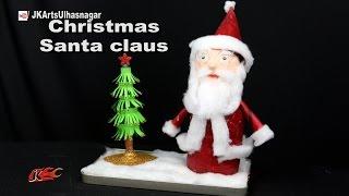 getlinkyoutube.com-How To Make Santa Claus    Christmas Decoration   Best out of waste Bottles   JK Arts 1143