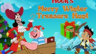 getlinkyoutube.com-Jake And The Neverland Pirates Full Game Episode Hook's Merry Winter Treasure Hunt Kids Disney Games