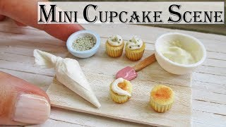 getlinkyoutube.com-Miniature Polymer Clay Cupcake Decorating Scene Tutorial