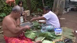 getlinkyoutube.com-Samoan Palusami Classic: Taro Leaves & coconut