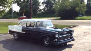 getlinkyoutube.com-Insane Blown 55' Chevy Street Legal!!!!