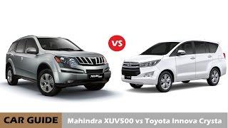 getlinkyoutube.com-Toyota Innova Crysta vs Mahindra XUV 500 : Full Comparison and Reviews |Car Guide|