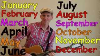 Months of the Year Song, Months of the Year Fun Song, DreamEnglish