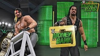 getlinkyoutube.com-WWE 2K15 Money in The Bank 2015 - Seth Rollins Retains WWE Title & Roman Reigns Cashes in MITB!