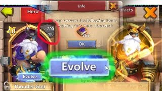 getlinkyoutube.com-Castle Clash Evolving Level 200 Thunder God!!!