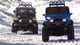 getlinkyoutube.com-Tamiya CC-01 Jeep Wrangler Snow Mountain Challenge