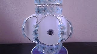 getlinkyoutube.com-Best Out Of Waste Plastics Converted to Decorative Multipurpose Container