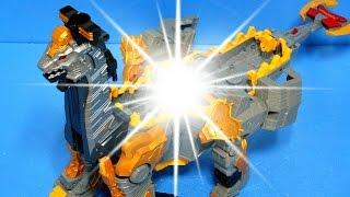 getlinkyoutube.com-파워레인저 다이노포스 기간트브라기오킹 기간트티라노킹 다이노셀 장난감 박스개봉 합체 설명 동영상 Power Ranger Toys