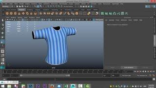 getlinkyoutube.com-Maya 2016 tutorial : How to UV Map and texture clothing