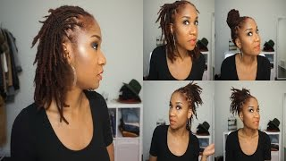 getlinkyoutube.com-5 Quick Hairstyles for Short/Medium Dreads