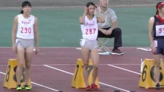 getlinkyoutube.com-20150919群馬高校新人陸上女子100m決勝