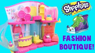 getlinkyoutube.com-Shopkins Fashion Boutique Fashion Spree Unboxing with Season 3 Baskets